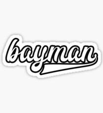 Bayman - White with black outline - Newfoundland Sticker