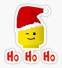 Santa Ho Ho Ho Minifig by Customize My Minifig Sticker