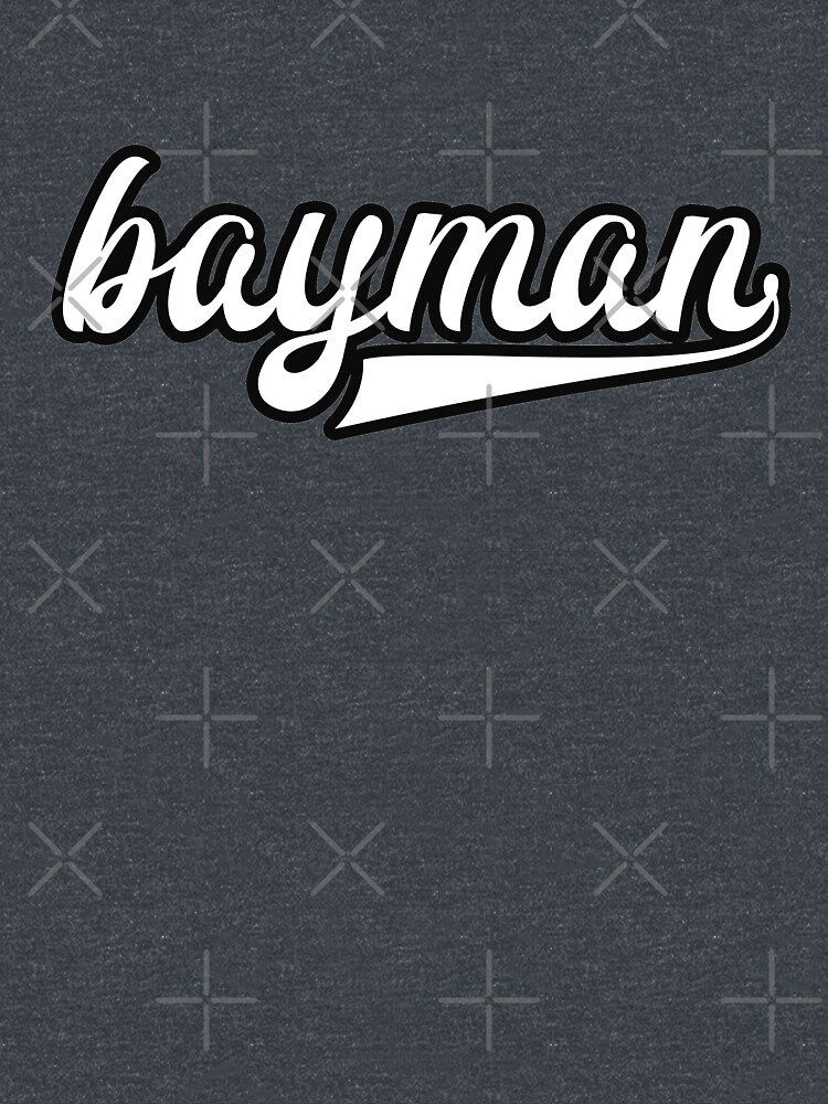 Bayman - White with black outline - Newfoundland by newfoundpod