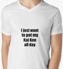 Kai Ken Dog Lover Mom Dad Funny Gift Idea Men's V-Neck T-Shirt