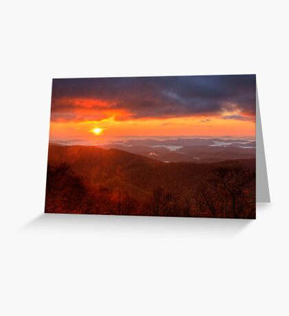 October Sunrise Greeting Card