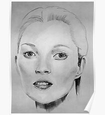 Kate Moss portrait Poster