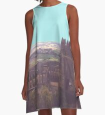 Sky, horizon and a castle A-Line Dress