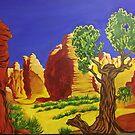 Desert Landscape by RussMcP