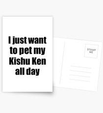 Kishu Ken Dog Lover Mom Dad Funny Gift Idea Postcards