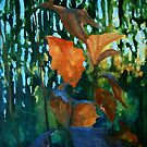 First signs of Autumn -acrylic painting on canvas by Donata Zawadzka