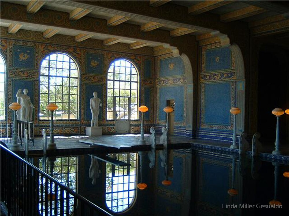 inside swimming pool at the hearst castle - Inside Swimming Pool