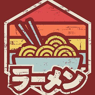 Retro Ramen by artlahdesigns