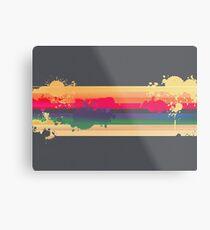 Regenbogen Metalldruck