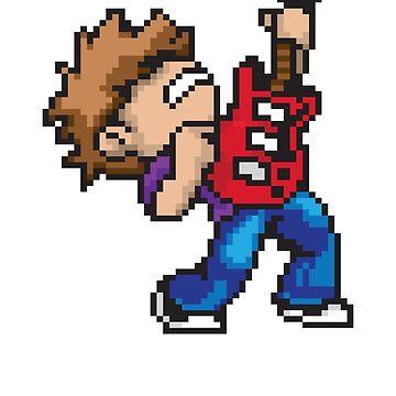 Pixel Guitarist by seansm