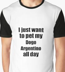 Dogo Argentino Dog Lover Mom Dad Funny Gift Idea Graphic T-Shirt