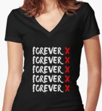 Forever X Forever XXTENTACION Women's Fitted V-Neck T-Shirt