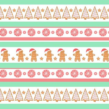 Ginger Bread and Treats Christmas Pattern! by JTBeginning-x