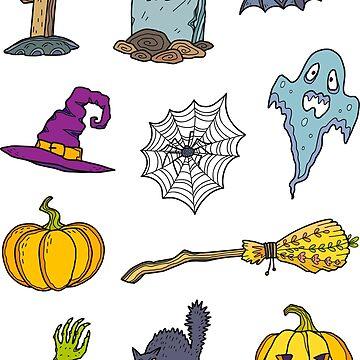 Halloween symbols by 1enchik
