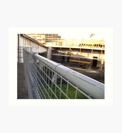Lines Made Real (metal handrail & roofers' scaffolding) Art Print