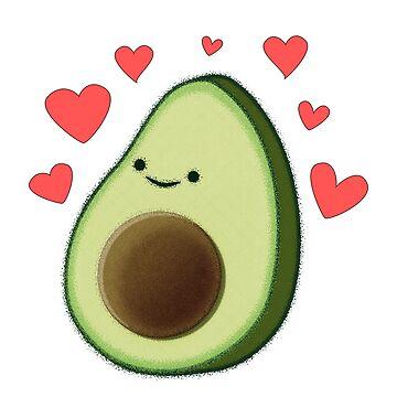 Cute Avocado Love by Almdrs