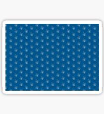 Fleur de lys Fleurdelysée pattern blue and white French Français Quebec Québec France Sticker