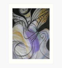Medussa in Flight Art Print