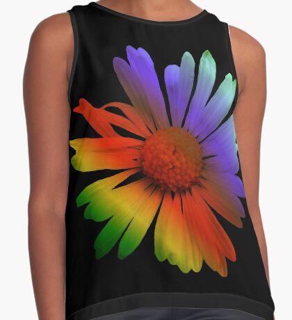 wunderschöne, bunte Margerite, Blume, Regenbogen Kontrast Top