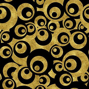 Mother of All Circles - Gold Black by wickedrefined