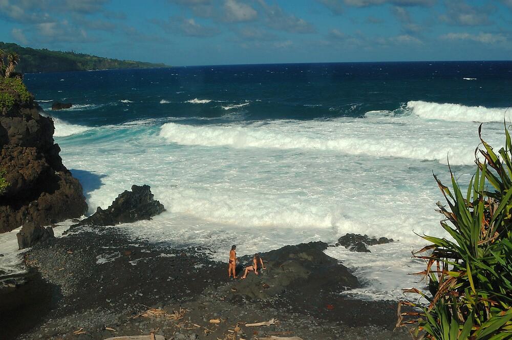 Volcanic Beach, Haleakala National Park, Maui by fauselr