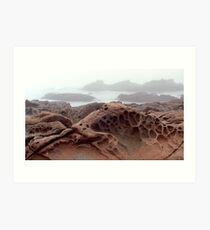 Cambria Rock in Fog Art Print