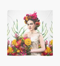 Frida Kahlo, Frida, Kahlo, flowers, bouquet, Marigolds, Mexican art Scarf