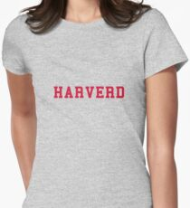 HARVERD (red letters) Women's Fitted T-Shirt