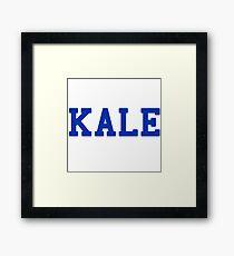 KALE (blue lettering) Framed Print