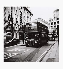 London bus 9 Aldwych Photographic Print