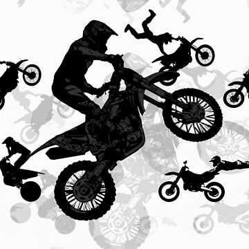 Extreme Stuntmen - Motocross Riders by NaturePrints