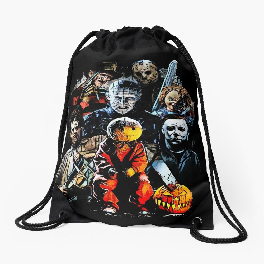 Horror movie characters Drawstring Bag