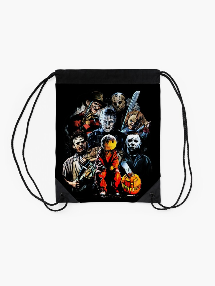 Alternate view of Horror movie characters Drawstring Bag