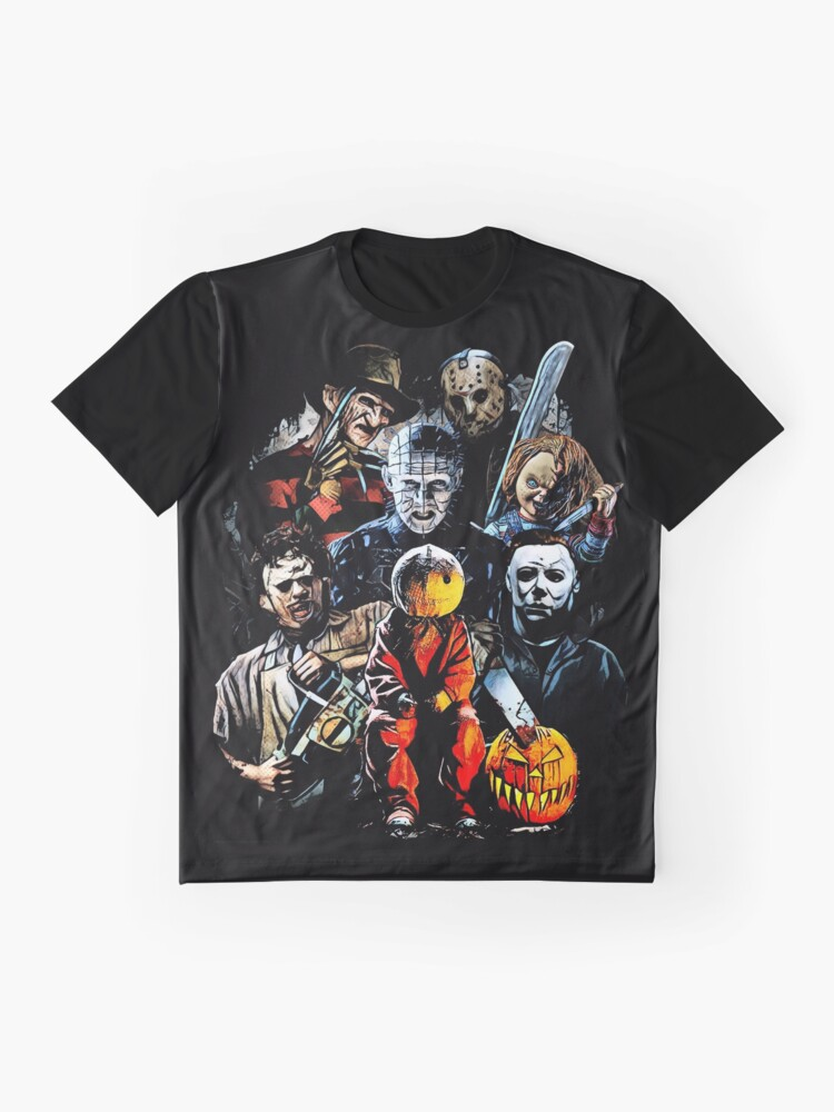Alternate view of Horror movie characters Graphic T-Shirt
