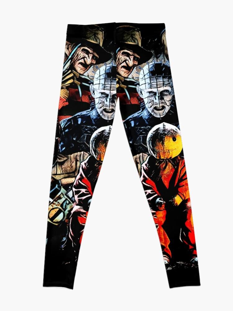 Alternate view of Horror movie characters Leggings
