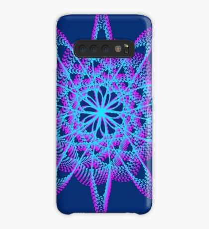 Spirograph with pink and blue Case/Skin for Samsung Galaxy