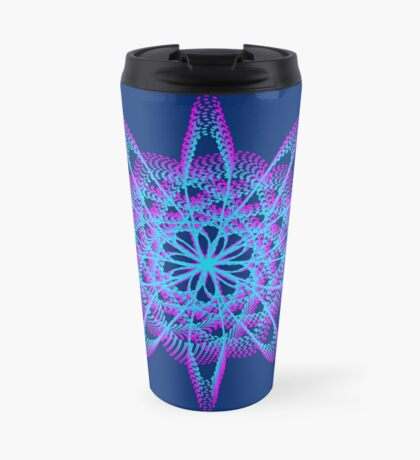 Spirograph with pink and blue Travel Mug