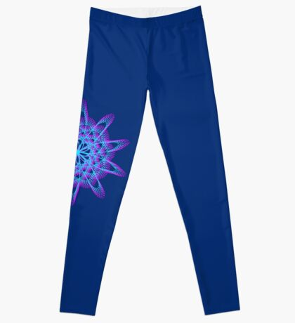 Spirograph with pink and blue Leggings