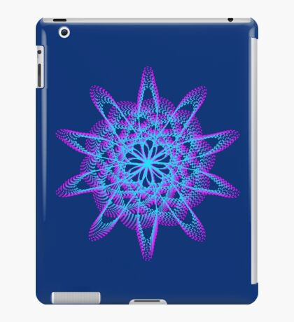 Spirograph with pink and blue iPad Case/Skin