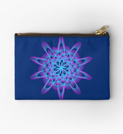 Spirograph with pink and blue Zipper Pouch