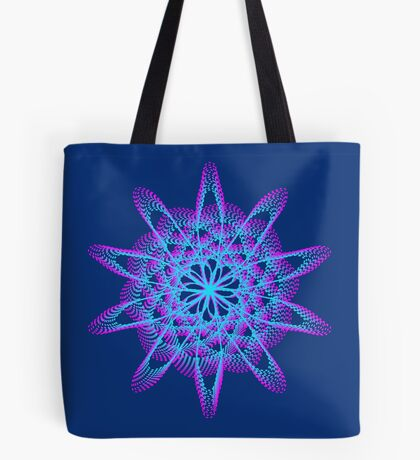 Spirograph with pink and blue Tote Bag