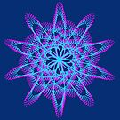 Spirograph with pink and blue by Shapes-Mania