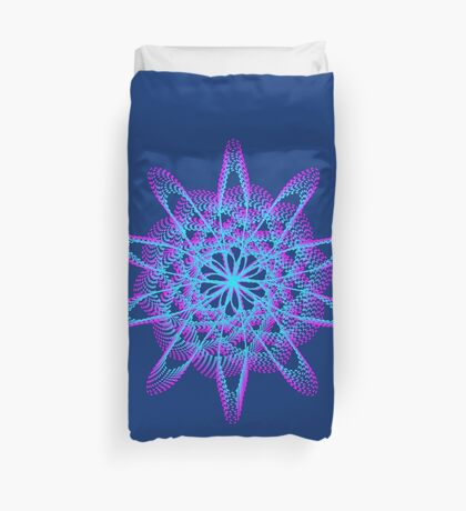 Spirograph with pink and blue Duvet Cover