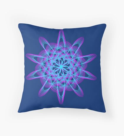 Spirograph with pink and blue Floor Pillow
