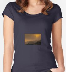 Photographer at Full Moon! Women's Fitted Scoop T-Shirt