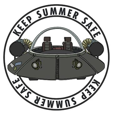 Keep Summer Safe - Rick and Morty Inspired Design by landobry