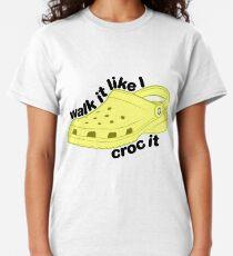 Walk it Croc it - Jaune T-shirt classique