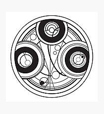 Gallifreyan Logo Photographic Print