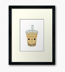 Cute Bubble Tea Framed Print