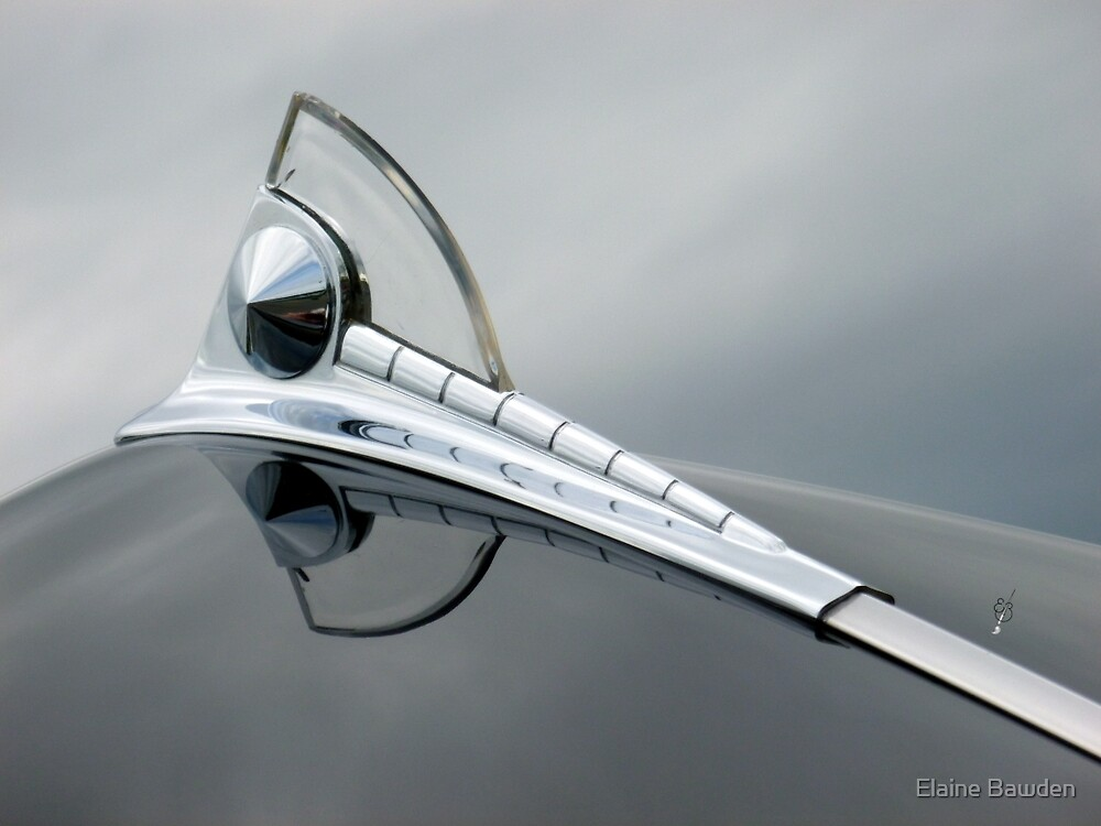 Quot 1950 Ford Hood Ornament Quot By Elaine Bawden Redbubble